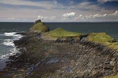 Testa della vite senza fine, penisola di Gower, Galles Fotografie Stock Libere da Diritti