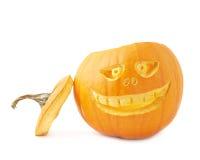 testa della zucca di Halloween delle Jack-o'-lanterne Fotografia Stock Libera da Diritti