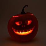 testa della zucca di Halloween delle Jack-o'-lanterne Immagine Stock