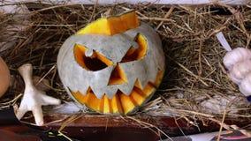 Testa della zucca di Halloween archivi video