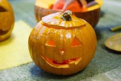 Testa della zucca sorridente per Halloween Immagini Stock