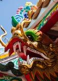 Testa delle terraglie del drago Fotografie Stock