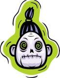 Testa delle zombie royalty illustrazione gratis