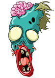 Testa dello zombie Immagini Stock