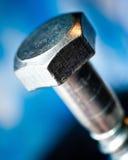 Testa di bullone del metallo Fotografia Stock