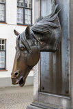 Testa di cavallo ad una fontana Fotografia Stock