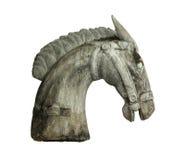 Testa di cavallo di legno Immagini Stock