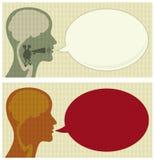 Testa di conversazione Fotografia Stock