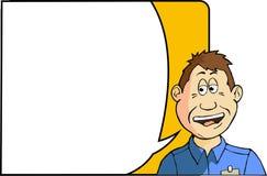 Testa di conversazione del fumetto fotografie stock