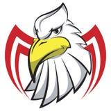 Testa di Eagle sotto forma di tatuaggio stilizzato, logo della mascotte Fotografie Stock Libere da Diritti