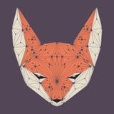 Testa di Fox Fronte di Fox illustrazione del poligono Fotografia Stock