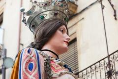 Testa di Gigant della regina a Valls fotografie stock libere da diritti