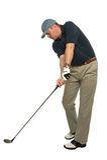 Testa di golf giù Fotografia Stock