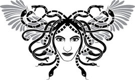 Testa di Gorgona della medusa illustrazione vettoriale