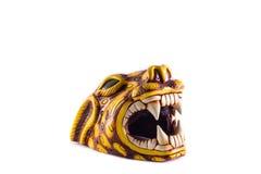 Testa di Jaguar con la bocca aperta ed i grandi denti Fotografia Stock