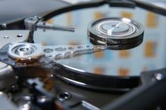 Testa di lettura del drive del hard disk immagine stock libera da diritti