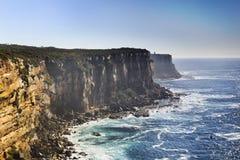 Testa di Nord della costa delle rocce del mare Fotografie Stock Libere da Diritti