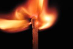 Testa di partita bruciante Fotografia Stock Libera da Diritti