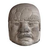 Testa di pietra del olmec Fotografie Stock