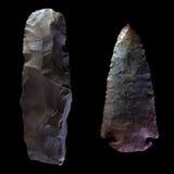 Testa di pietra della freccia Fotografie Stock