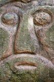 Testa di pietra a Riga Immagine Stock