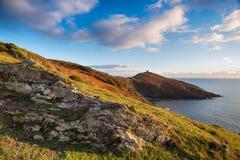 Testa di Rame sulla costa della Cornovaglia Fotografia Stock