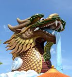 Testa di s del drago 'a Supanburi fotografia stock libera da diritti
