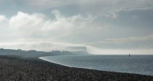 Testa di Seaford in nuvola con luce solare Fotografie Stock