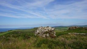 Testa di Strumble, linea della costa di Pembrokeshire Immagine Stock Libera da Diritti