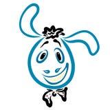 Testa di un asino allegro con un legame e un taglio di capelli divertente illustrazione di stock