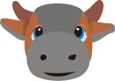 Testa di una mucca Immagine Stock