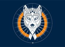 Testa di Wolfs Immagini Stock Libere da Diritti