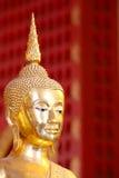 Testa dorata del Buddha Immagini Stock
