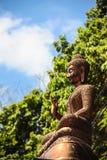Testa dorata della statua di Buddha Fotografia Stock Libera da Diritti