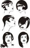 Testa e fronte delle donne Illustrazione di Stock