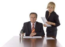 Testa ed assistente immagine stock libera da diritti