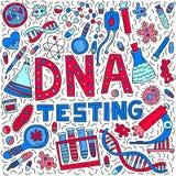 Testa för DNA vektor illustrationer