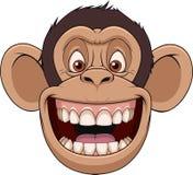 Testa felice della scimmia royalty illustrazione gratis
