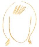 Testa femminile Fotografia Stock