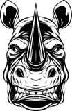Testa feroce di rinoceronte illustrazione di stock