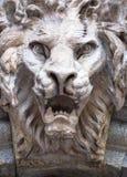 Testa a forma di leone del demone Immagini Stock Libere da Diritti