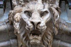 Testa a forma di leone del demone Immagine Stock Libera da Diritti