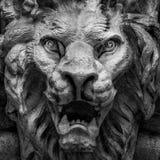 Testa a forma di leone del demone Fotografie Stock Libere da Diritti