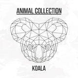 Testa geometrica della koala Fotografia Stock