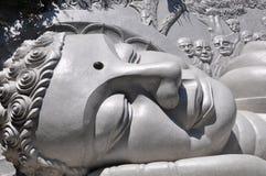Testa gigante del buddha Fotografie Stock