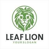 Testa Lion Leaf Fotografia Stock Libera da Diritti