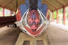 Testa maori su una barca Fotografia Stock