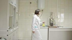 Testa matning för djur som är kvalitets- på laboratoriumet lager videofilmer