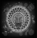 Testa modellata del leone sui precedenti di lerciume E Illustrazione di Stock