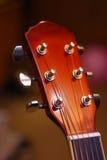 Testa motrice della chitarra Fotografie Stock